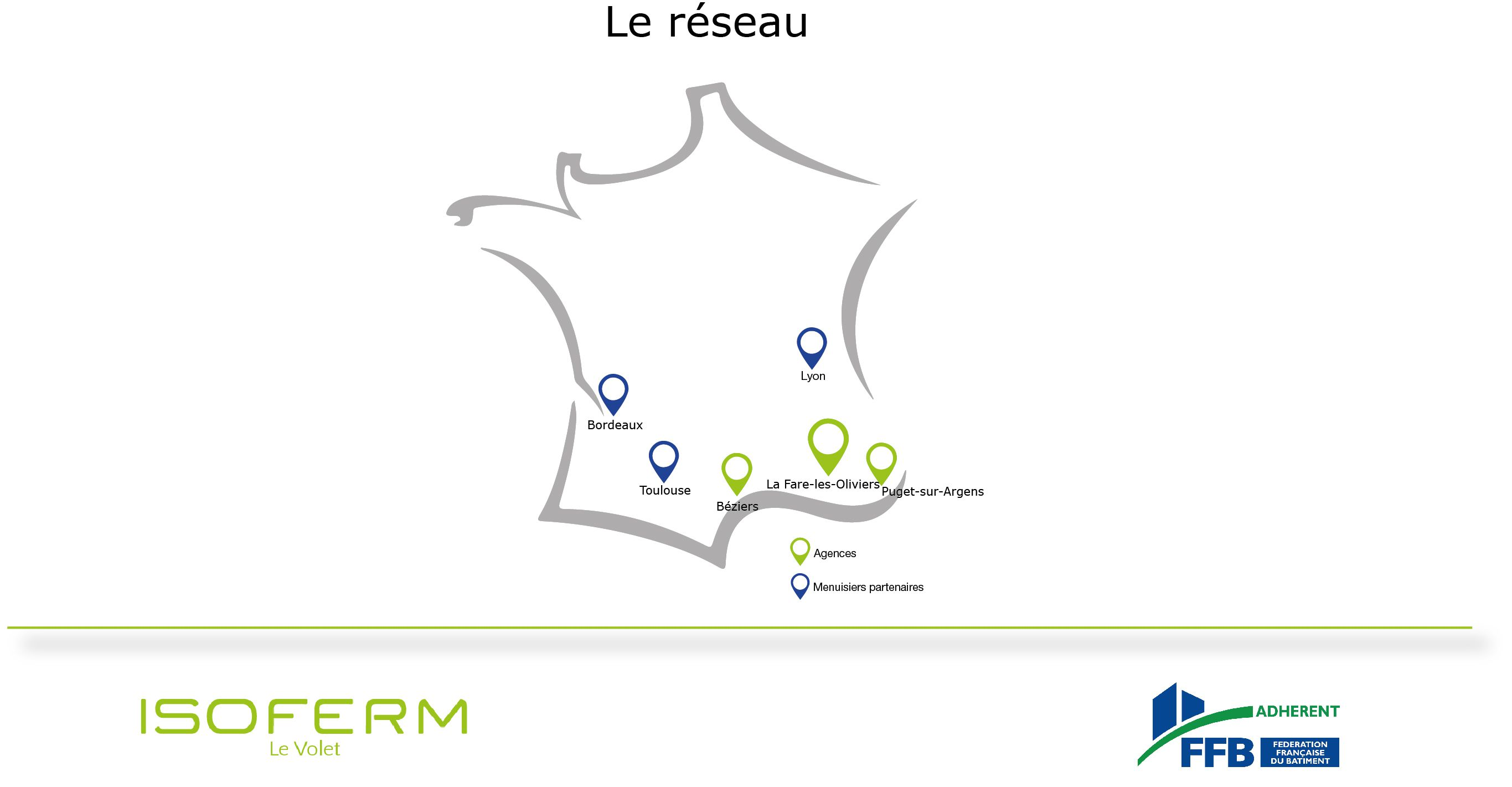 Carte réseau intervention isoferm