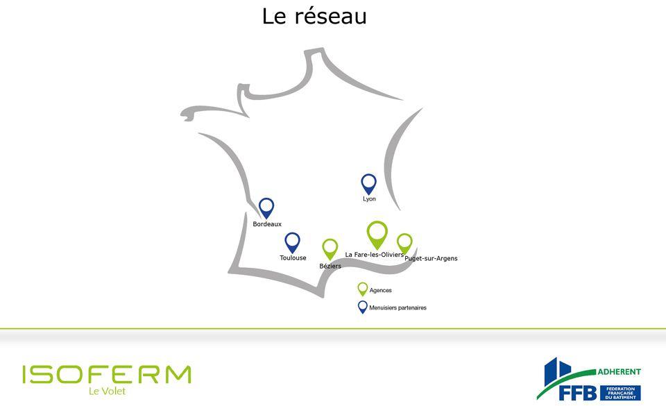 Carte réseau d'intervetion Isoferm