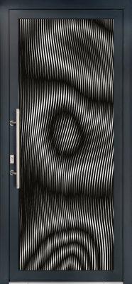 idee deco porte d-entree motif zebre