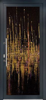porte d-entree luxe effet peinture